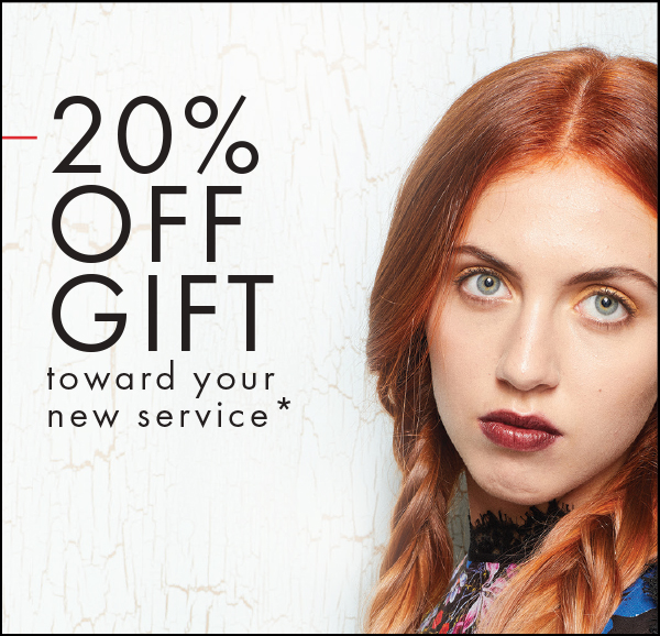20% gift toward your new service